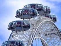 London Eye. The London Eye Ferris wheel is a major London tourist attraction affording stunning views over London royalty free stock image