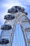 London Eye. The London Eye Ferris wheel is a major London tourist attraction affording stunning views over London stock photography