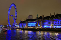London Eye, London. London Eye at night, London, UK Stock Images