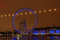 London Eye, London. London Eye at night, London, UK Royalty Free Stock Photos
