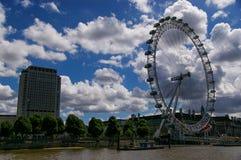 The London eye in London stock image