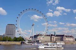 London Eye - London UK Royalty Free Stock Photo