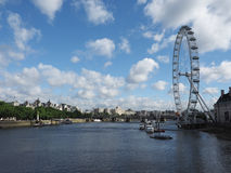 London Eye in London Stock Photo