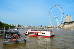 London Eye, in London, United Kingdom Stock Photography