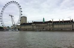 London Eye - a Londres, Inglaterra imagem de stock