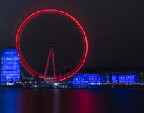 London Eye Long Exposure Nightscape Royalty Free Stock Photography