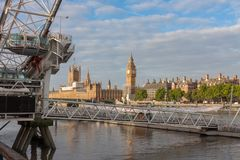 London Eye, millennium wheel in London in the morning Royalty Free Stock Photography