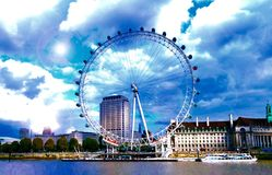 London Eye Millennium Wheel Royalty Free Stock Photo