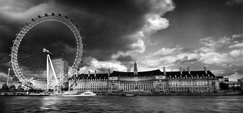London Eye mono Stock Image