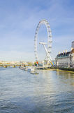 London eye in the morning Royalty Free Stock Photos
