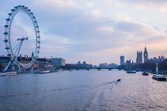 London Eye Near Body of Water during Day Time Stock Photo