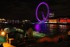 London Eye at night Stock Photos