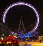 London Eye at Night Royalty Free Stock Photo