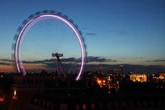 London eye by night Stock Photos