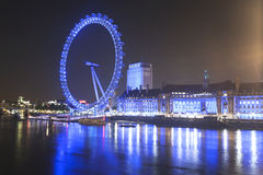 London Eye by Night Royalty Free Stock Photography