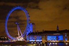 London eye night Royalty Free Stock Photos