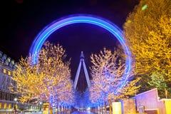 London Eye at night Stock Photography