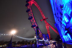 London Eye at night. Stock Image