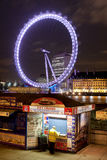 London Eye by night. London Eye by night on december Royalty Free Stock Photo