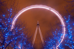 London Eye by night. Royalty Free Stock Photo