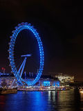 London eye at night, december 2013 Royalty Free Stock Images