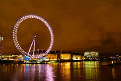 London Eye at night Royalty Free Stock Photos