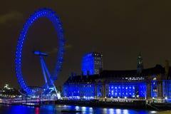 London eye at night, England Stock Image