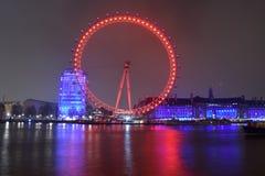 London Eye. Night exposure of The London Eye Royalty Free Stock Photo