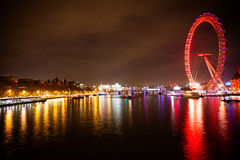 London Eye at night Royalty Free Stock Photography