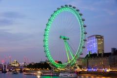 London Eye night Stock Photography