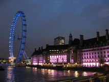 London eye by night Stock Photography