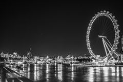 London Eye by night  Royalty Free Stock Images