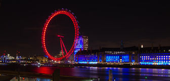 London eye by night Royalty Free Stock Image