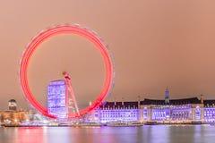 London Eye at night. London, United Kingdom royalty free stock photos