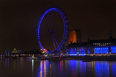London Eye night Stock Photography