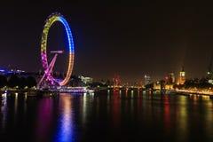 London eye at night Stock Images