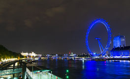 London Eye at Night Stock Images