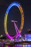 London Eye at Night Royalty Free Stock Photos