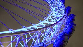 London Eye night view stock footage