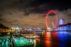 The London Eye at Night Royalty Free Stock Photo