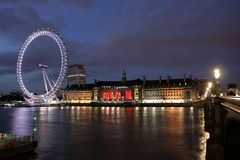 London Eye Nightview Stock Photos