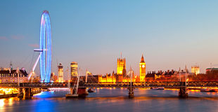 London Eye Panorama Stock Images