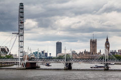 The London Eye Parliament and Big Ben Stock Images