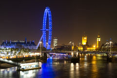 London Eye and Parliament Building Royalty Free Stock Photos