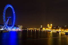 London Eye and Parliament Building Royalty Free Stock Images