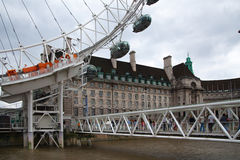 London eye, part of great engineering construction. Stock Photography