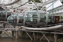 London eye, part of great engineering construction. Stock Image