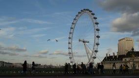 London Eye stock footage