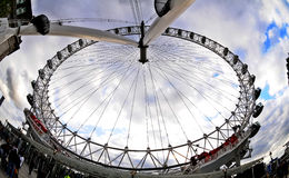 London Eye in perspective Stock Images