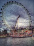 The London Eye. Photographed lat at night in November Stock Image
